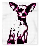 Chihuahua In Pink Fleece Blanket
