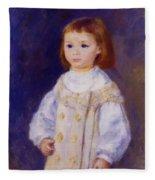 Child In A White Dress Lucie Berard 1883 Fleece Blanket