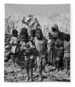 Childern Of The Danakil, Ethiopia Fleece Blanket