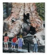 Children At Sequoia National Park Fleece Blanket