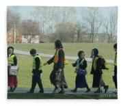 Children Crossing Fleece Blanket
