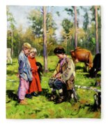 Children Of The Forest Fleece Blanket