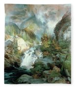 Children Of The Mountain Fleece Blanket