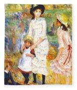 Children On The Seashore 1883 Fleece Blanket