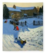 Children Sledging Fleece Blanket