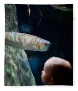 Children Watch Silver Arowana Fish Fleece Blanket