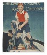 Children's Crusade For Children Fleece Blanket