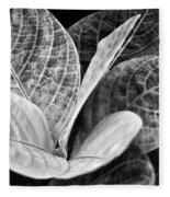 Children's Garden Leaves Fleece Blanket