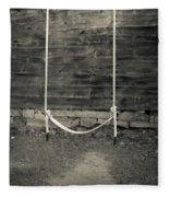 Child's Swing On An Old Farm Fleece Blanket