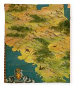 Chile And Argentina With The Magellan Strait Fleece Blanket