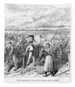 Chile: Wine Harvest, 1889 Fleece Blanket