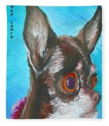 Chili Chihuahua Fleece Blanket