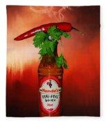Chili Pepper, Coriander And Peri-peri By Kaye Menner Fleece Blanket