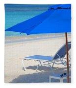 Chilling On The Beach Anguilla Caribbean Fleece Blanket