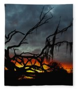 Chilling Sunset Fleece Blanket