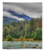 Chillkoot River Hdr Paint Fleece Blanket