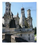 Chimney From Chambord - Loire Fleece Blanket