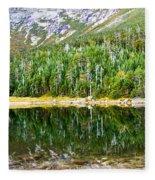 Chimney Pond Reflections 2 Fleece Blanket