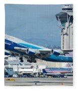 China Airlines Boeing 747 Dreamliner Lax Fleece Blanket