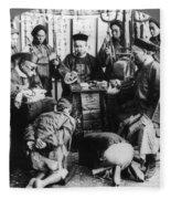 China: Boxer Trial, C1900 Fleece Blanket