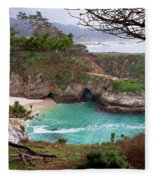 China Cove At Point Lobos Fleece Blanket