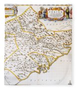 China: Fujian Map, 1662 Fleece Blanket