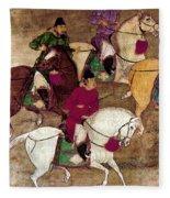 China: Horsemen Fleece Blanket