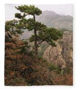 China, Mt. Huangshan Fleece Blanket