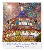 China Pavilion, World Showcase, Epcot, Walt Disney World Fleece Blanket