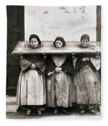 China: Punishment, 1907 Fleece Blanket