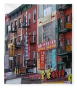 China Town Buildings Fleece Blanket