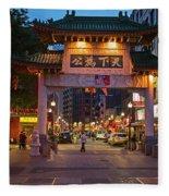 Chinatown Gate Boston Ma Fleece Blanket