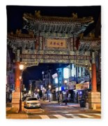 Chinatown In Philadelphia Fleece Blanket