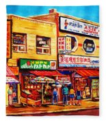 Chinatown Markets Fleece Blanket