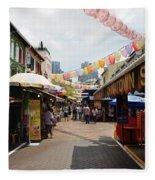 Chinatown Street Fleece Blanket