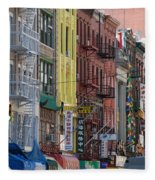 Chinatown Walk Ups Fleece Blanket