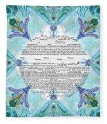 Chinease Ketubah- Reformed And Interfaithversion Fleece Blanket