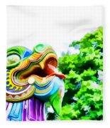 Chinese Dragon Ride Fleece Blanket