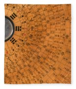 Chinese Geomantic Compass And Perpetual Fleece Blanket
