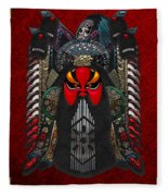 Chinese Masks - Large Masks Series - The Red Face Fleece Blanket