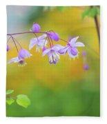 Chinese Meadow Rue Fleece Blanket