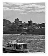 Chinese Navy Ship Qingdao Ddg 113 Fleece Blanket