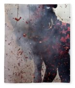 Chinese New Year Action Fleece Blanket