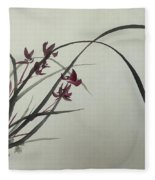 Chinese Orchid Fleece Blanket