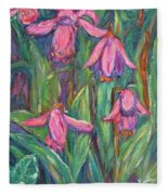 Chinese Orchids Fleece Blanket