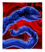 Chinese Serpent Rising Fleece Blanket