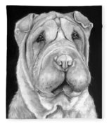 Chinese Sharpei Fleece Blanket