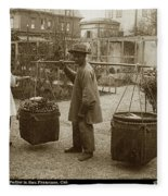 Chinese Vegtable Pedler In San Francisco Circa 1880 Fleece Blanket