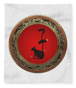 Chinese Zodiac - Year Of The Rat On White Leather Fleece Blanket