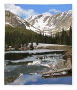 Chinns Lake Reflections 3 Fleece Blanket